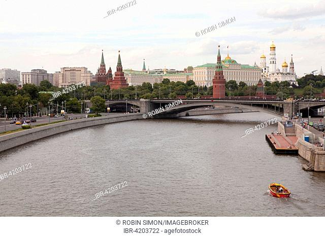 View of the Kremlin, Moscow, Russia