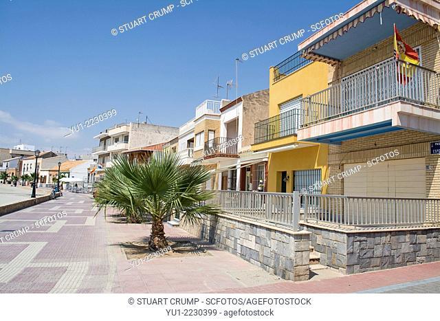 Houses on the promenade at Los Alcazares, Mar Menor, Murcia, Spain, Europe