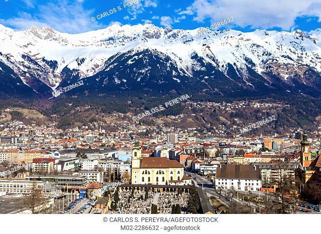 Panoramic of Innsbruck, Tyrol, Austria