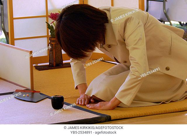 Solemn Japanese Tea Ceremony