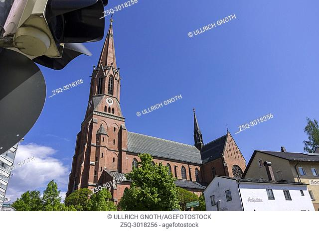 The catholic parish church St. Nikolaus in Zwiesel, Bavarian Forest, Bavaria, Germany