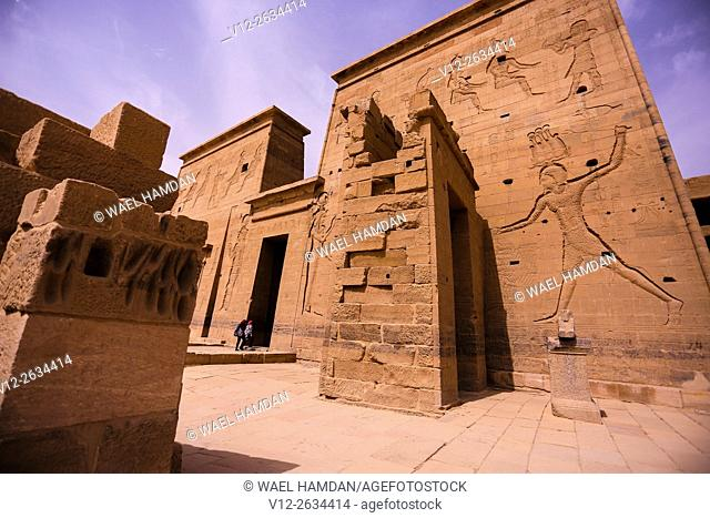 Temple of Isis in Philae, Egypt, Aswan