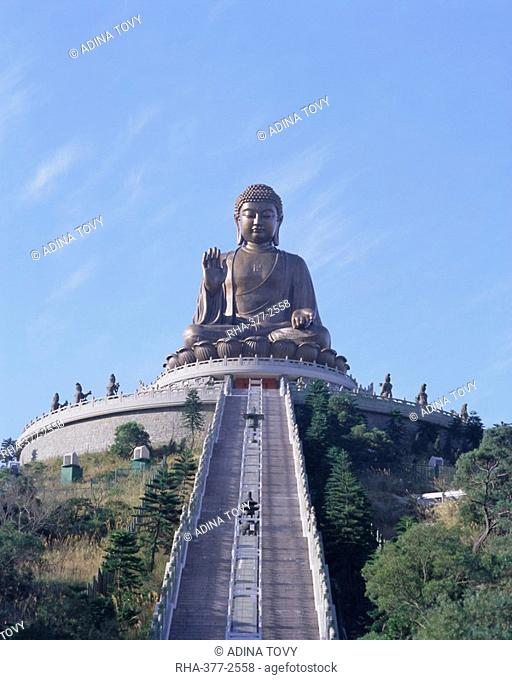 Statue of the Buddha, the largest in Asia, Po Lin Monastery, Lantau Island, Hong Kong, China, Asia