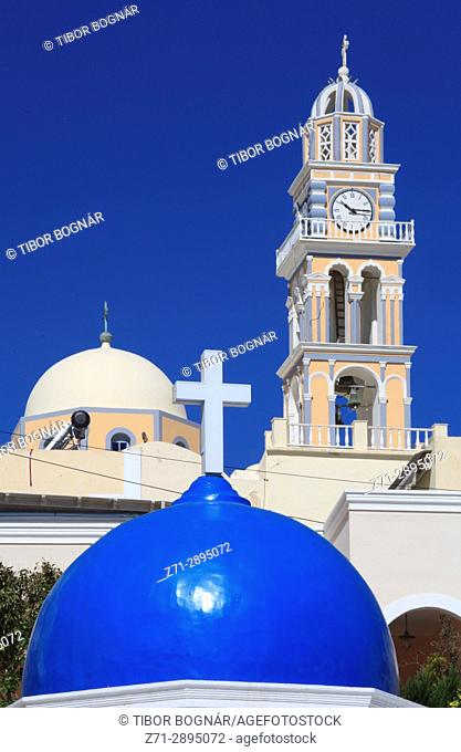 Greece, Cyclades, Santorini, Fira, St John the Baptist, catholic cathedral