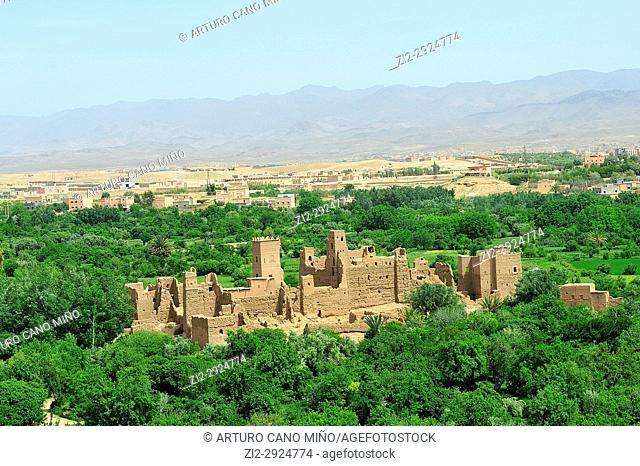 Kasbah in ruins. Kelaa M'gouna. High Atlas. Morocco