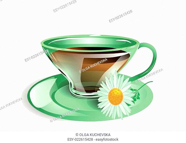 cup of tea with chamomile
