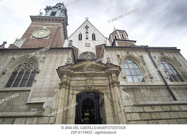 KRAKOW POLAND ON SEPTEMBER 23, 2018: Wawel castle and cathedral in Krakow Poland