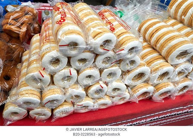 Shortbread, folklore fair of Santo Tomas, Donostia, San Sebastian, Gipuzkoa, Basque Country, Spain, Europe