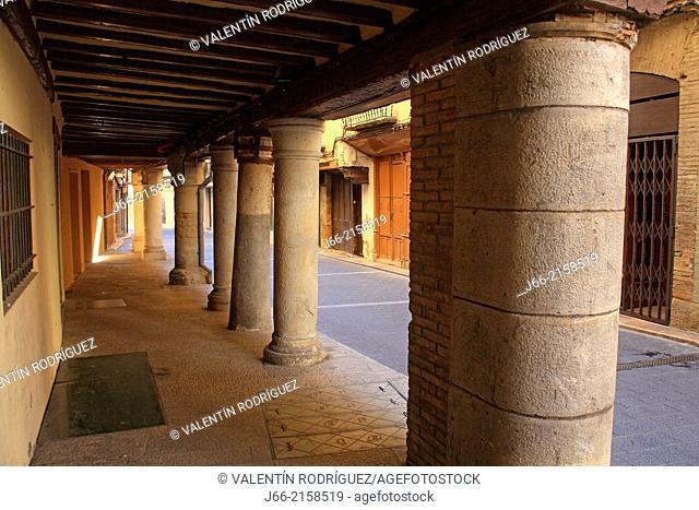 Mayor street in Graus, Ribagorza region. Huesca