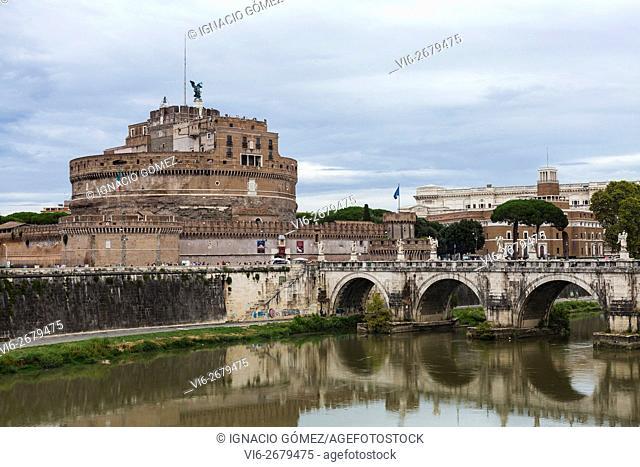 Castelo de St Angelo, Saint Angelo castle, Rome, Italy