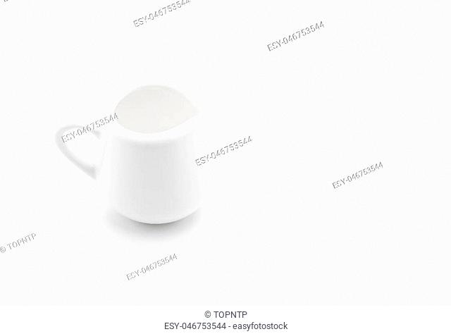 empty white jar on white background