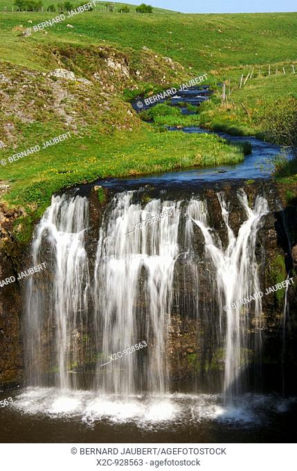 Waterfall of Allanches. Cantal. Auvergne. France