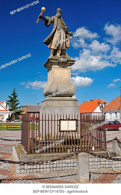 Tykocin - small town in Podlaskie Voivodeship, Poland. Monument of Stefan Czarniecki