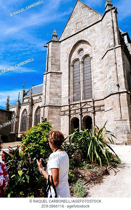 The beautiful St. Malo church. Dinan, Brittany, France