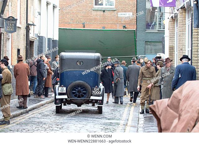 Gemma Arterton filming her new movie 'Their Finest Hour and a Half in East London Featuring: Atmosphere Where: London, United Kingdom When: 16 Sep 2015 Credit:...