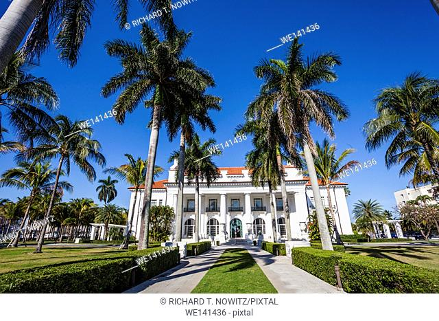 Facade of a museum, Flagler Museum, Palm Beach, Florida, USA