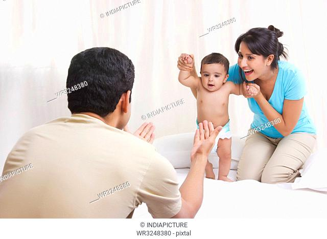 Father calling baby