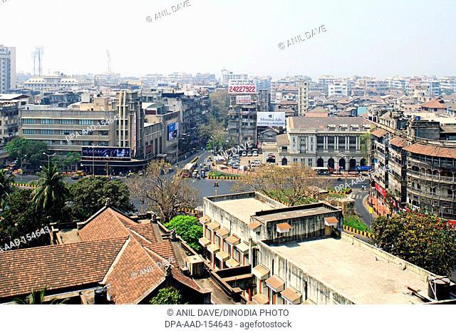 Dhobi Talao and Metro cinema ; Bombay Mumbai ; Maharashtra ; India