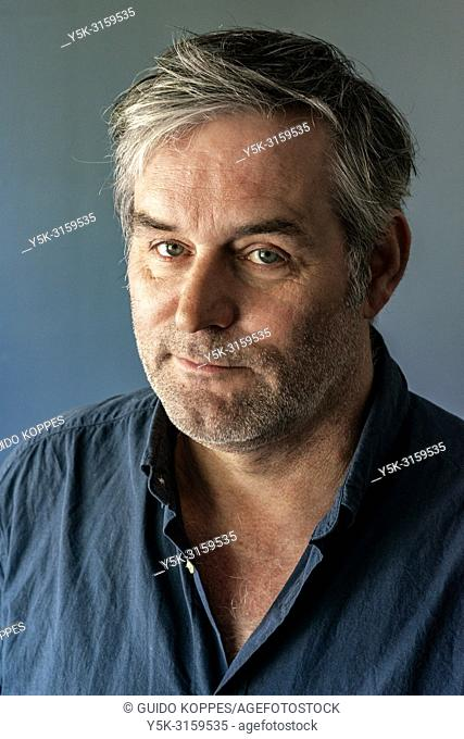 Tilburg, Netherlands. Studio portrait of a mature adult, caucasian male