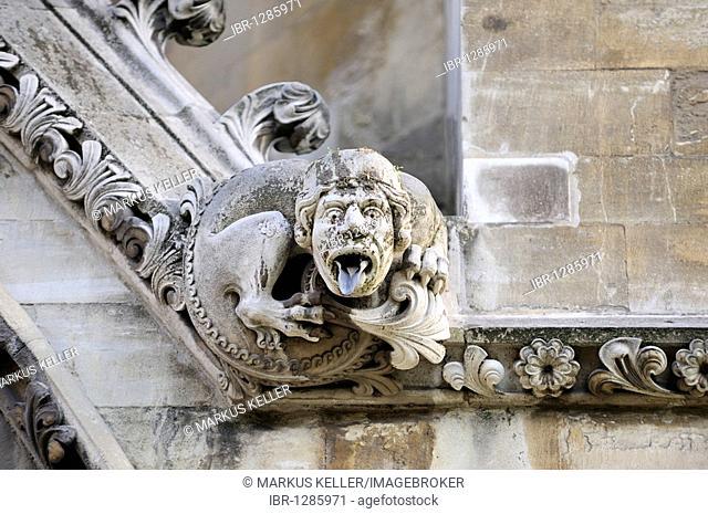 Gargoyles on the north side of Westminster Abbey, London, England, United Kingdom, Europe