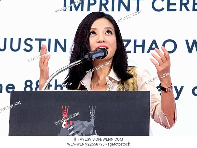 Hand Print/Birthday Bash Ceremony at the TCL Chinese Theatre IMAX Featuring: Zhao Wei Where: Hollywood, California, United States When: 03 Jun 2015 Credit:...
