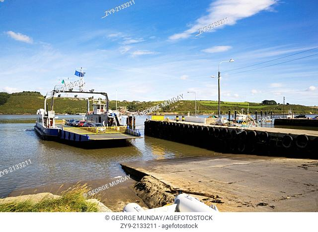 Ferry over Waterford Harbour, Approaching Passage East, County waterford, Ireland