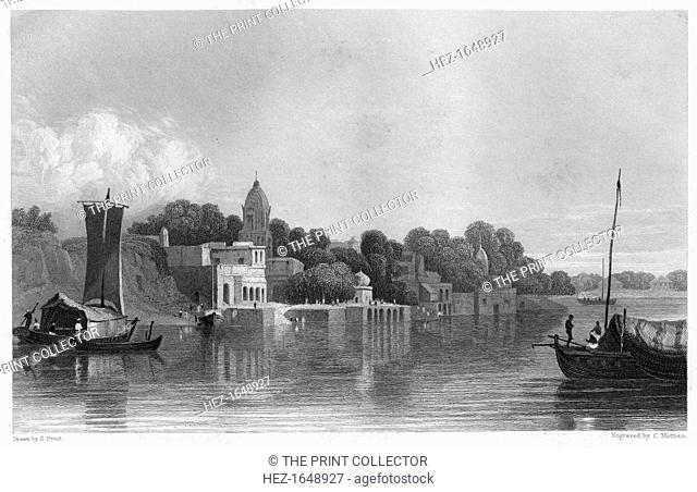 Cawnpore, India, c1860. As seen from the river. The Indian Rebellion of 1857 began in the town of Meerut and soon erupted into other mutinies and civilian...
