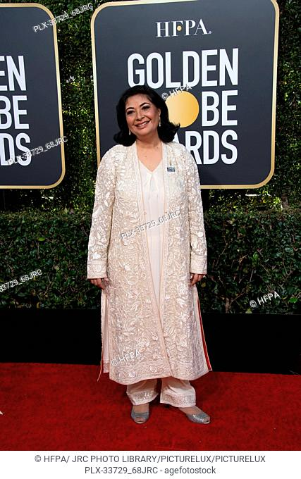 HFPA President Meher Tatna attends the 76th Annual Golden Globe Awards at the Beverly Hilton in Beverly Hills, CA on Sunday, January 6, 2019
