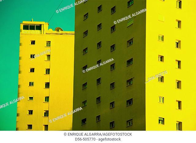 Apartment block. Benidorm, Costa Blanca. Alicante province, Spain