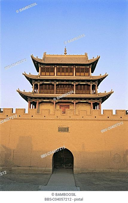 Great Wall tower, Jiayuguan, Gansu Province of People's Republic of China