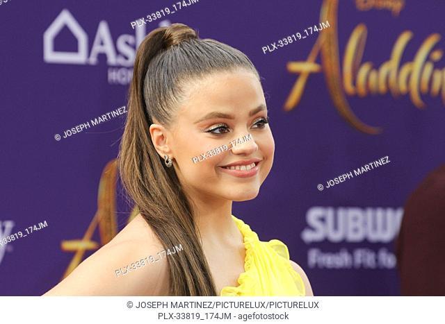 "Sarah Jeffery at The World Premiere of Disney's """"Aladdin"""" held at El Capitan Theatre, Hollywood, CA, May 21, 2019. Photo Credit: Joseph Martinez / PictureLux"
