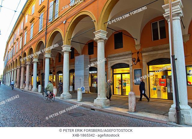 Via Emilia street central Modena city Emilia-Romagna region central Italy Europe