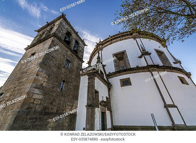 Church and bell tower of Augustinians Monastery of Serra do Pilar in Vila Nova de Gaia city, Grande Porto subregion in Portugal
