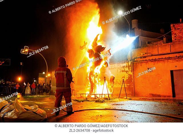 Falla burning, valencia, Spain