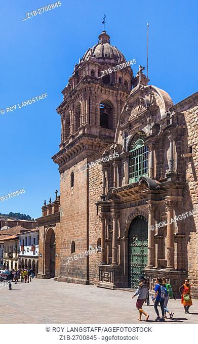 Basilica Menor Merced on Mantas Street in Cusco, Peru