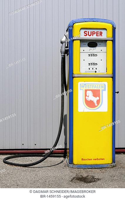 Nostalgic gas pump, Germany, Europe