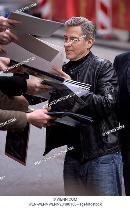 66th Berlin International Film Festival (Berlinale) - 'Hail, Caesar! - Photocall Arrivals Featuring: George Clooney Where: Berlin