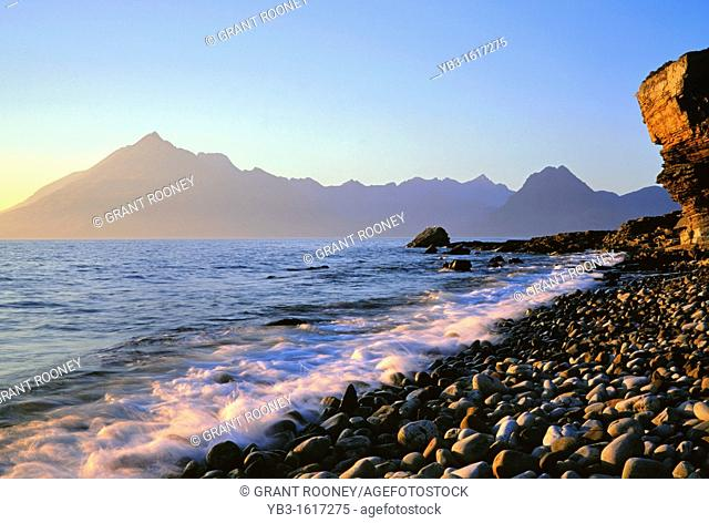 The Southern Arc of the Cuillin Mountains from Elgol, Isle of Skye, Scotland