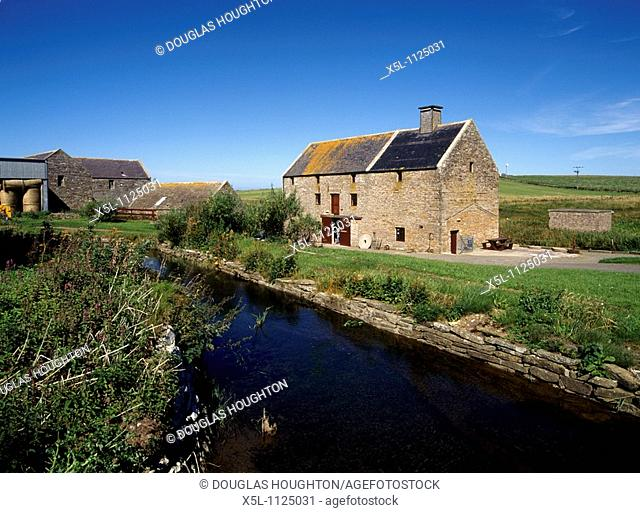 Barony Mill BIRSAY ORKNEY Bere grain meal Broadhouse working mill museum burn water