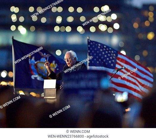 Bernie Sanders Senator from Vermont and candidate for the Democratic Party nomination for President of the United States held a public rally at the Hunters...