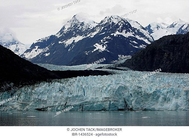 Johns Hopkins Glacier in Glacier Bay National Park, Alaska, USA