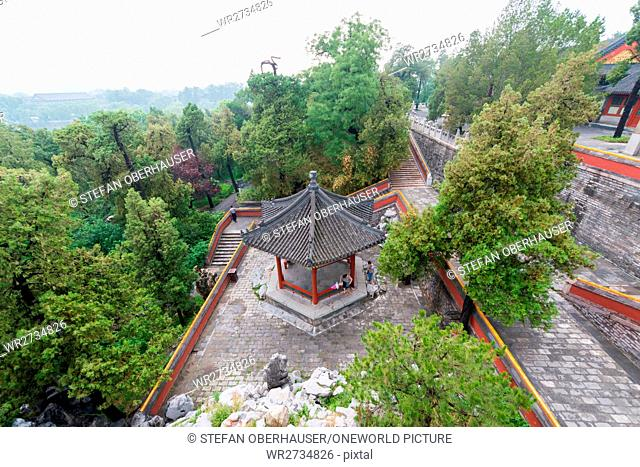 China, Beijing, view from YongAn Temple on the Jade Island in Beihai Park