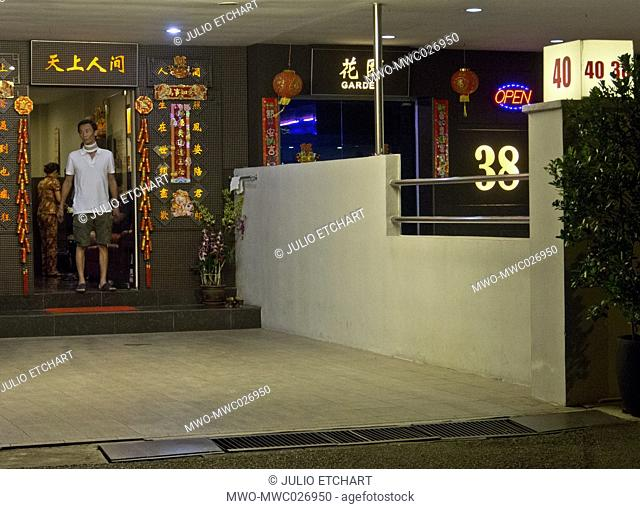 Geylang red light district in Singapore