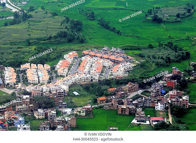 Aerial view of Kathmandu valley, Nepal