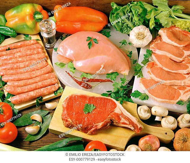 Assorted meat