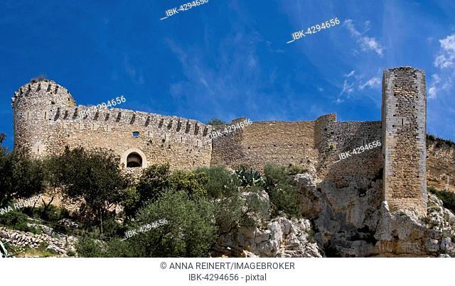 Castell de Santueri, Puig de Santueri, Felanitx, Mallorca, Balearic Islands, Spain