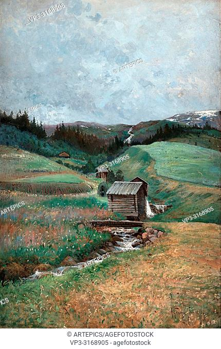 Genberg Anton - Summer Landscape from Are in the North of Sweden