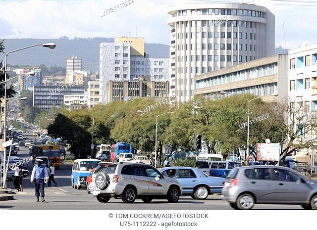Churchill Avenue, downtown, addis ababa ethiopia