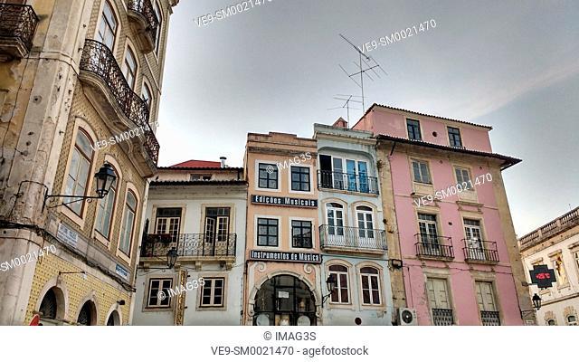 Buildings at Praça 8 de Maio, Coimbra, Portugal