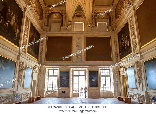Luxurious interiors of the palace. Venaria reale, Piedmont. Italy